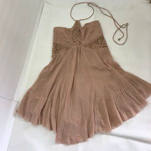 Free people dust pink mini dress never worn
